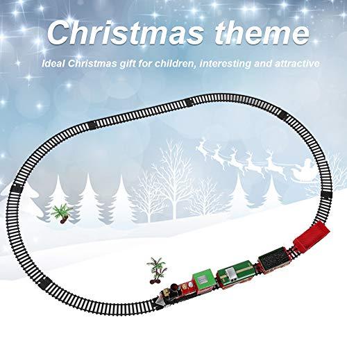 QIRG Tren eléctrico, Juguete de vagón de ferrocarril, niños de Navidad (Christmas...