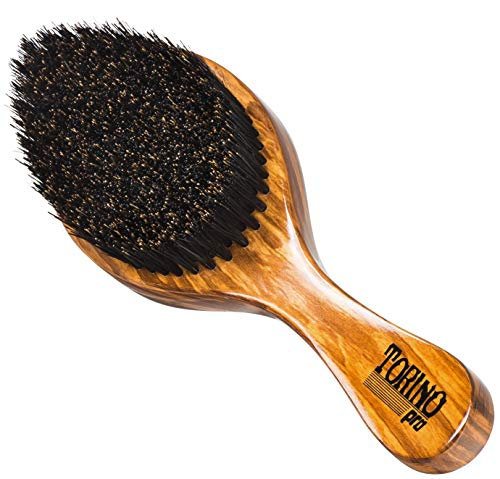 Torino Pro Wave Brush #630 By Brush King - Firm Medium Curve 360 Waves - Made with 100% boar bristles - Great pull