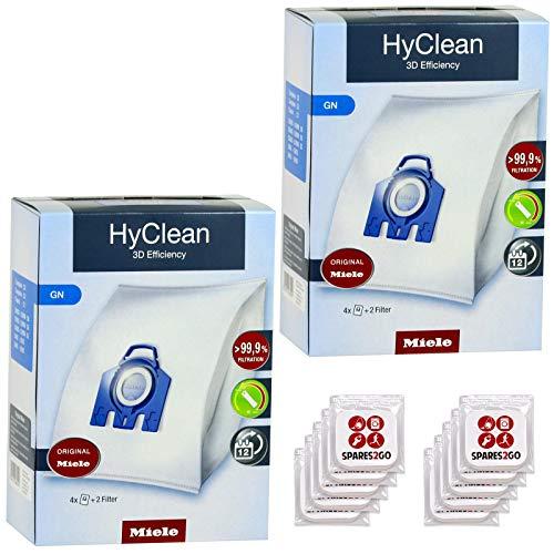 Miele GN HyClean 3D Bags (Pak van 8) + Tab Fresheners voor C1 C2 C3 S2 S2000 S2111 S5 S5000 S5210 S5211 S5261 TT5000 S8 S8000 S8310 S8320 Kat & Hond Stofzuiger