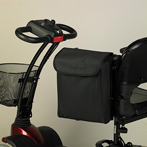 Homecraft tas voor rolstoelen en elektrische scooters, 33 x 26 x 8 cm, zwart