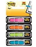 Post-it Arrow Flags, Assorted Bright Colors.47 in Wide, 24/Dispenser, 4 Dispensers/Pack (684-ARR4)
