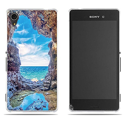 DIKAS Handyhülle Sony Xperia M4 Aqua (E2303 E2333 E2353), 3D Mode Muster Transparente Silikon Clear TPU Soft Gummi Silikon Abdeckung Telefon Fall für Sony Xperia M4 Aqua (E2303 E2333 E2353)- Pic: 08