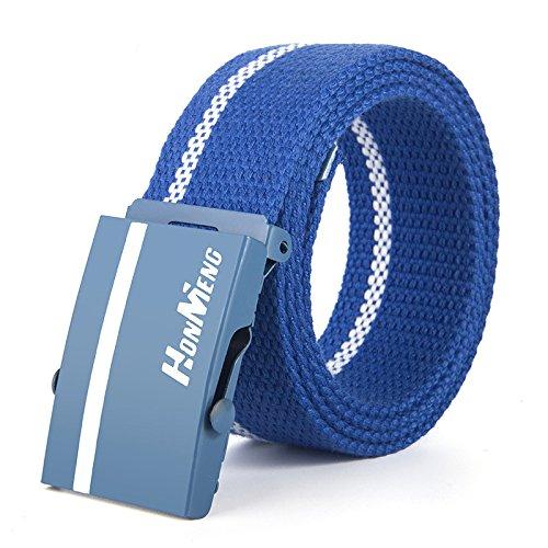 SBORT cintura,Ideale per jeans e abbigliamento casual e formale, tela, gioventù, blu, 110 cm