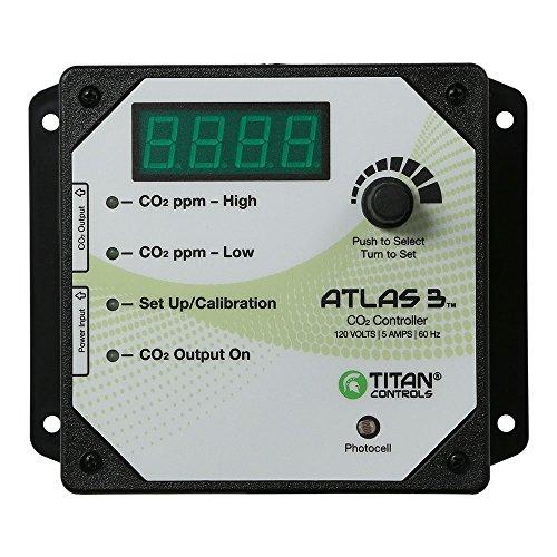 Titan Controls HGC702608 Atlas 3 Day/Night Carbon Dioxide (CO2) Monitor & Controller with Photocell,...
