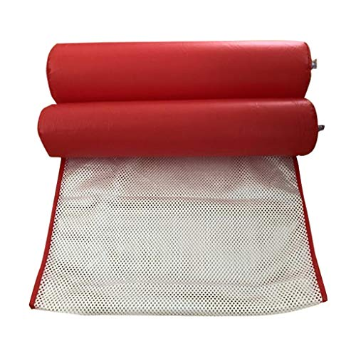 SHANCL Pool Inflatable Ring Swimming Ring Adult Water Oversized Floating Row With Net Hammock Beach Folding Backrest Inflatable Sofa Recliner Bed (Color : Red)