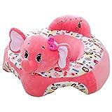 Baby-Sofa-Sitzbezug, Cartoon-Plüschsitz, weiches Sofa, abnehmbar, waschbar, Baby-Stützsitz, Plüschspielzeug, Kissen für Kleinkinder, Kinder, Kleinkinder, rosa Elefant