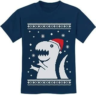 TeeStars - Big Trex Santa Ugly Christmas Sweater - Children Funny Kids T-Shirt