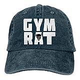 Kling Unisex Erwachsene Vintage Washed Baseball Cap Verstellbarer Papa Hut - Gym schwarz