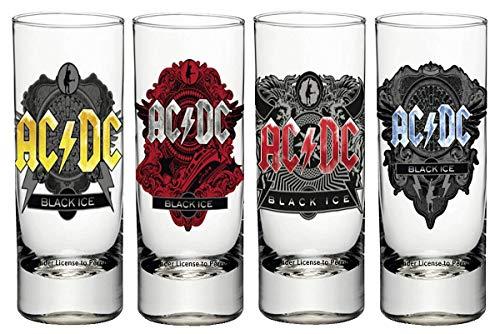 Close Up Set de 4 Verres à Liqueur AC/DC - Black Ice