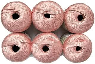 Silk Bamboo Yarn, 2.2oz, 6-Pack (Blush)
