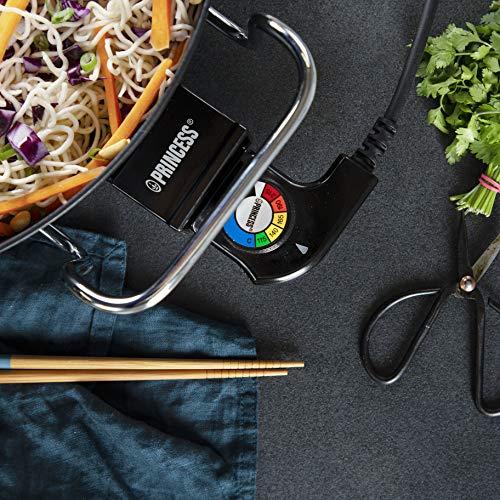 Princess 162367 Multi Wonder Chef Pro, Cazuela multiusos eléctrica versátil, 35 cm de diámetro, 7.cm de profundidad, termostato regulable, 1800 W, Negro