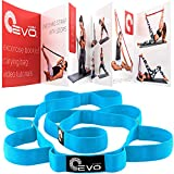Stretching Strap with Loops for Physical Therapy, Yoga Strap for Stretching, Stretch Out Strap (Blue)