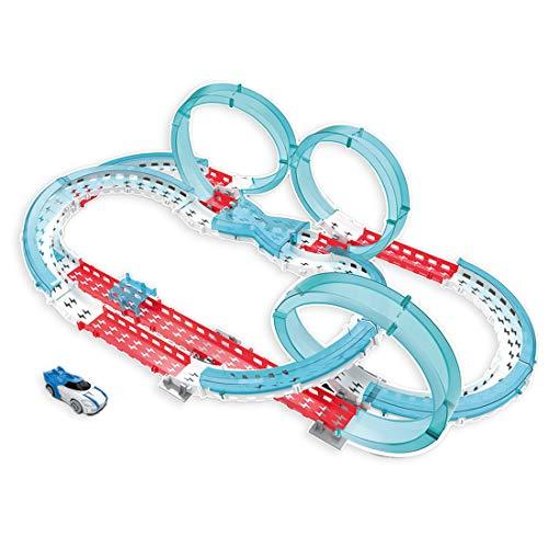 Haunen Autorennbahn für Kinder, Magic Trucks Auto Spielset Inclusive 58 Stück Tracks und 1 E-Autos Rennbahn Racetrack für Kinder ab 3 Jahren