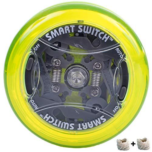 Yomega Power Brain XP yoyo - yoyo Professionale reattivo con Smart Switch Che Consente ai Giocatori di Scegliere tra Stili di Gioco a Ritorno Automatico e manuali (Giallo)