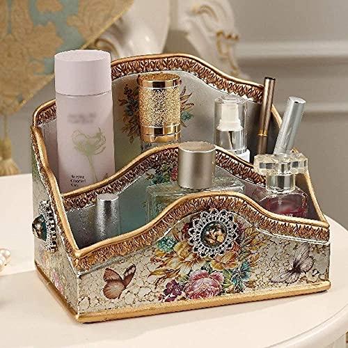 Caja de pañuelos para decoración de aparador, caja creativa, multifuncional, para guardar cosméticos, color 1, tamaño mediano