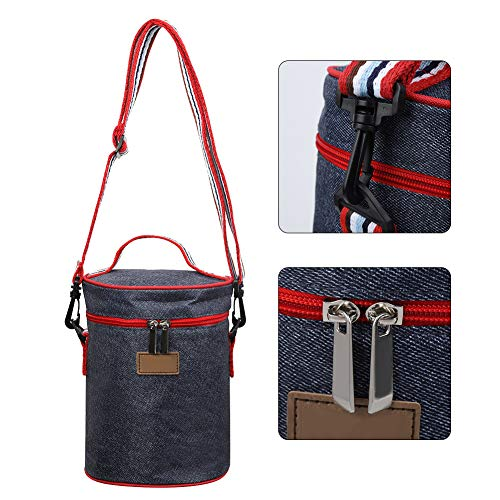 Soft Handle Tear-resistant Picnic Lunch Bag Thick Oxford Cloth Aluminum foil Camping School for Use in Work Travel