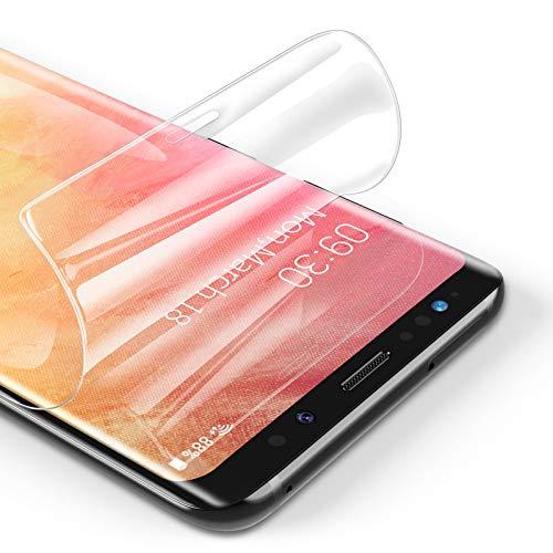 RIWNNI [3 Unidades Protector Pantalla para Samsung Galaxy S9 Plus, Ultra Fino Soft TPU Película Alta Definicion Cobertura Completa Protector de Pantalla para Samsung Galaxy S9 Plus - Transparente