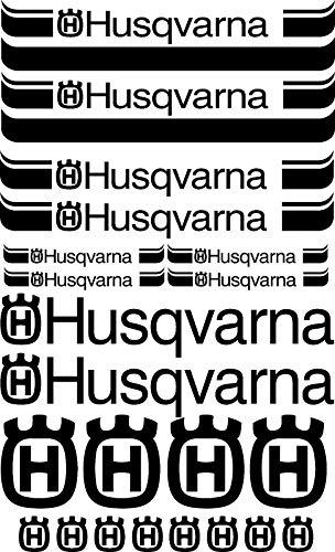 SUPERSTICKI Husqvarna Set ca 30cm Motorrad Aufkleber Bike Auto Racing Tuning aus Hochleistungsfolie Aufkleber Autoaufkleber Tuningaufkleber Hochleistungsfolie für alle glatten Flächen UV un
