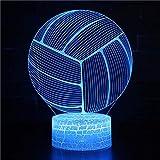 Badminton Baskerball Football Football Volleyball Rugby Sport Jeu Joueur Kobe couleurs Changement 3D USB Bureau Table Tamp veilleuse De Noël Enfants cadeau Chambre Décoration