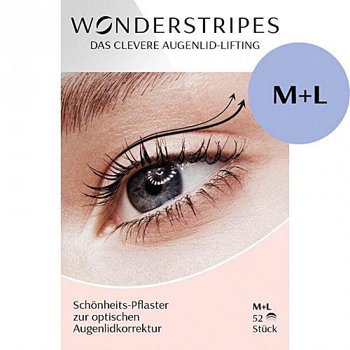 Wonderstripes Augenlid Pflaster, transparent, Größe M-L