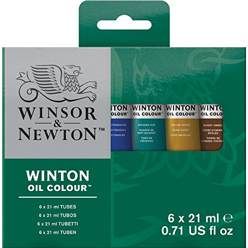 Winsor & Newton Assorted Winton 21-Milliliter Oil Paints, 6-Pack