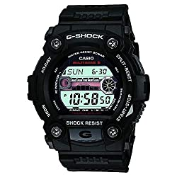 Casio GW-7900-1ER Mens G-Shock Tide Graph Solar Powered Watch - G-Shock introduces a Solar Atomic addition to the tough and rugged G-Rescue series. Already iconic for its four point protection design, large case, oversized buttons, this model has tide & moon graphs and is 200m Water Resistan