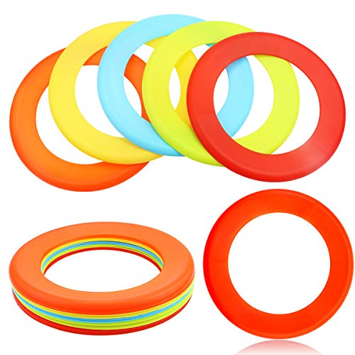 Hslife 10 Pcs 10#039#039 Flying Rings Ring Flying Discs Flying Disc Rings for Outdoors Game5 Colors