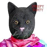 CreepyParty Halloween Kostüm Party Tierkopf Latex Maske Schwarze Katze