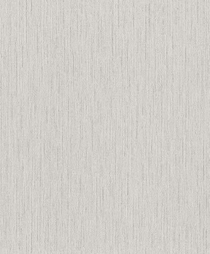 Rasch Tapeten (universell) Grau 10,05 m x 0,53 m #ROCKNROLLE 536126 Vliestapete, Hellgrau, 10,05 x 0,53 m