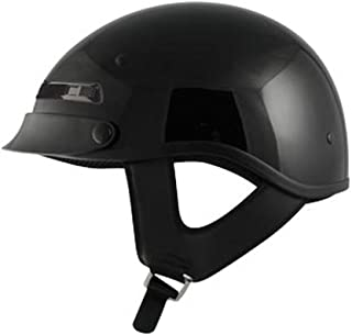 Zox Alto Custom Adult Cruiser Motorcycle Helmet - Solid Glossy Black / X-Large
