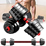 ZRBD-xh Adjustable Dumbbells Barbell Set, Can Be Used As Barbell with Solid Chrome Finish Bar, 10/15/20KG Lifting Dumbells Weights, Strength Weight for Body Workout Home Gym,10kg (Size : 10kg)