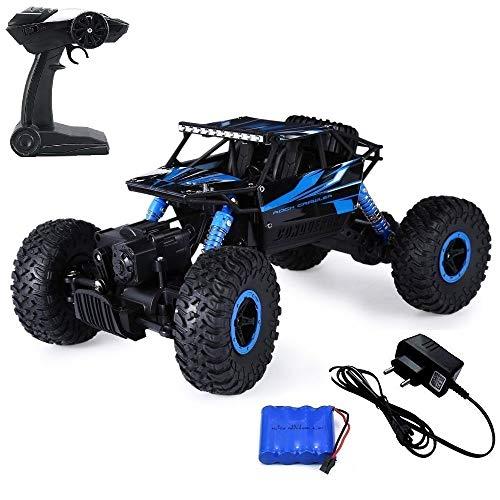EPHIIONIY JEYPOD Ferngesteuertes Auto 2,4GHZ High Speed Rennauto mit 4 Batterien blau