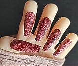 VOSOVO 24pcs / set Full Cover Fake Nails Art Herramientas de arte Mate Press en Bailarina Acrílico para obtener sugerencias falsas de uñas con pegamento para mujeres y niñas-13 #_24 piezas
