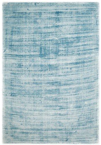 Bakero Teppiche Rio, Viskose/Baumwolle, Blau, 190 x 130 x 1.3 cm
