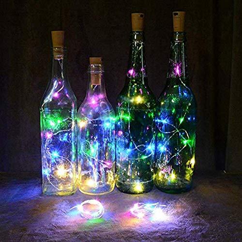 JALAL LED Solar Cork Wine Bottle Stopper Copper Wire String Lights Fairy Lamps Wedding Party Christmas Decor