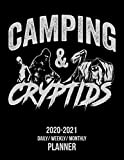 Camping & Cryptids: 2020 -2021 Daily/ Weekly/ Monthly Planner: 2-Year Personal Planner with Grid Calendar for Cryptozoology, Bigfoot, Sasquatch, ... Alien & Flatwoods Monster Believers, 8.5x11