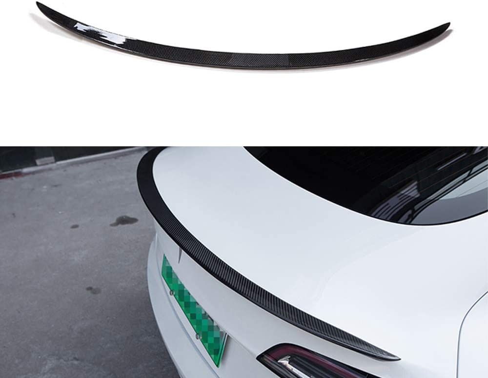 Aojiek Heckspoiler Kofferraum Spoiler Fl/üGel F/üR Tesla Model 3 2017 2018 2019 2020 Kohlefaser Abs Trunk Spoiler Lippe Auto Styling Zubeh/öR