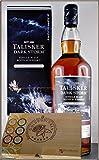 Talisker Dark Storm 1 Liter Single Malt Whisky mit 45 DreiMeister Edel Schokoladen im Holzkistchen, kostenloser Versand