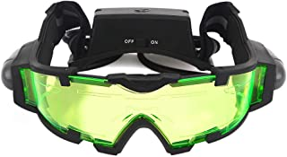 Kids Night Vision Goggles, Adjustable Elastic Band Glasses with LED Light Beams, Spy Gear with Flip-Out Lights Green Lens,...
