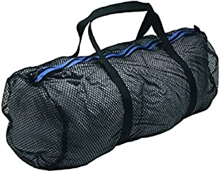 Innovative Heavy Duty Large Mesh Duffel Bag, Black/Blue for Scuba gear, snorkeling, diving, rafting, kayaking, and other o...