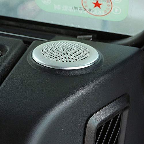 Garniture circulaire en alliage d'aluminium pour haut-parleur de tableau de bord de voiture Defender 110 pour accessoires Jag XE XF