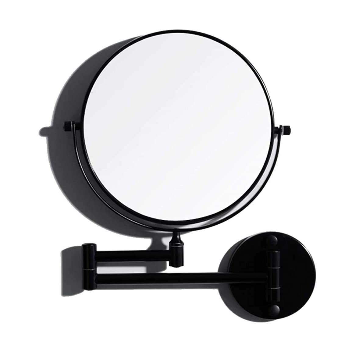 お別れ近似懺悔FENDOUBA 化粧鏡 1.5倍壁掛け折りたたみ美容メイクミラー、8インチ浴室シェービングミラー両面回転拡大鏡、360°回転可能 - ブラック