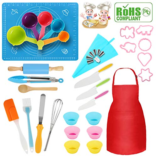 Kids Baking Sets Kids Cooking Sets Utensils Suitable for Baking Interesting Gifts for Children Aged 37PCS Kids Cooking Utensils Kids Baking, Do it Yourself kids cooking tools real