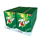 7-UP, Lemon Lime – Powder Drink Mix - (12 boxes, 72 sticks) – Sugar Free & Delicious, Makes 72 flavored water beverages
