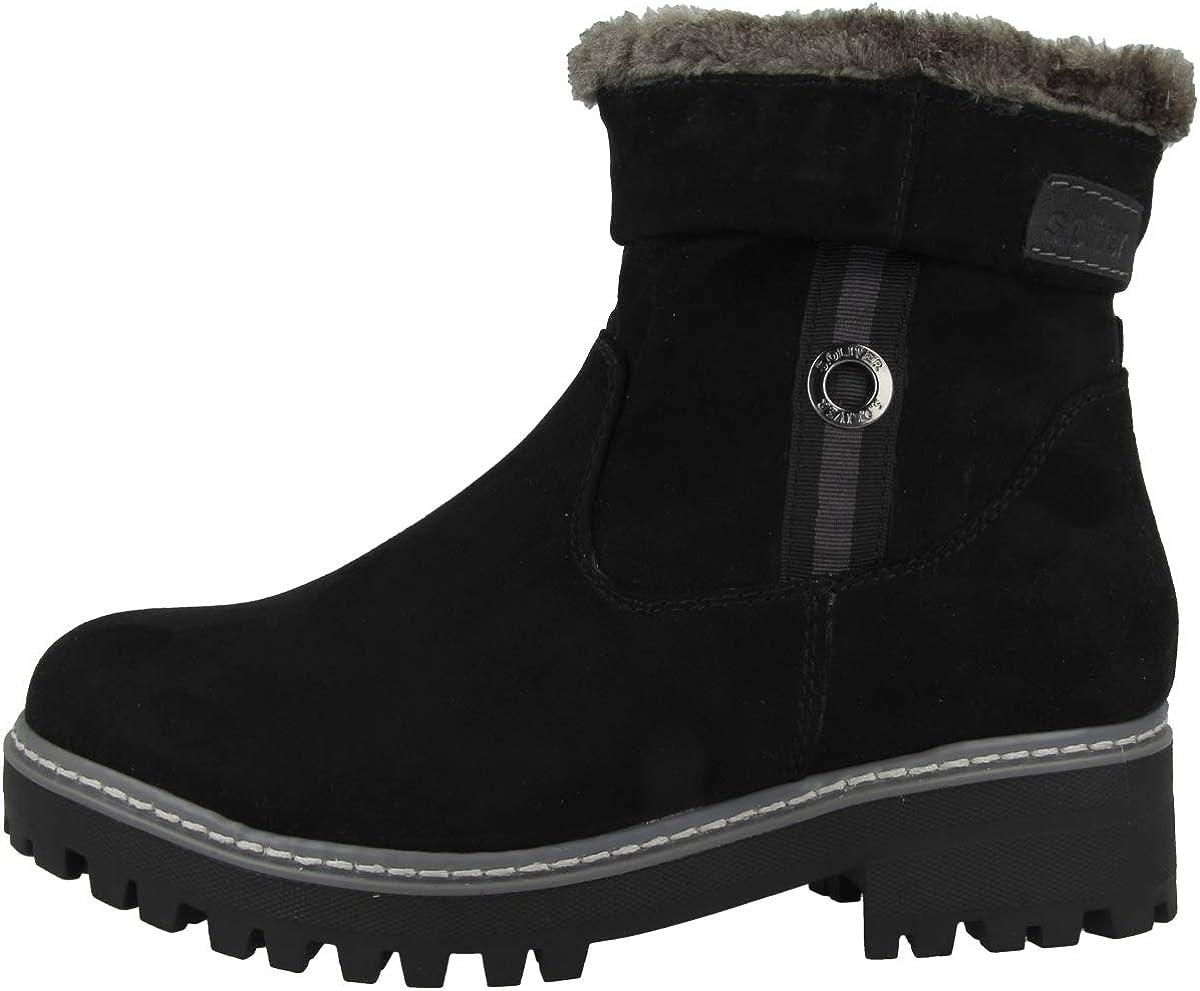 s.Oliver Women's Da-Stiefel Snow Boot, Black, 6.5