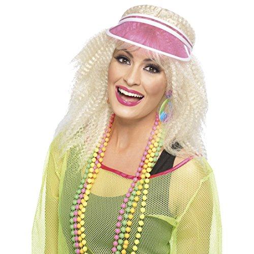 Amakando Schirmmütze Damen Visor pink Schirmkappe Sonnenschild Sonnenmütze Sommer Faschingsmütze