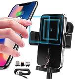UMISKY Tawveml 15W Qi Chargeur Induction Voiture Support Téléphone, Chargeur sans Fil Voiture...