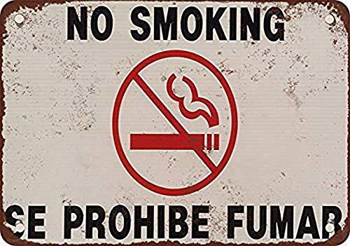 niet Geen Roken Engels Spaans Metaal tin teken schilderij decoratie Populaire IJzeren Schilderij Poster Voor bar cafe eetkamer huis club
