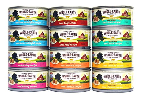 Merrick Whole Earth Farms Grain Free Wet Cat Food Variety Pack - 6...