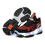 San Qing Zapatillas de Skate con Ruedas Individuales Zapatillas de Skate con Purpurina LED Carga USB Niños y niñas Zapatillas Cruzadas Zapatillas de Gimnasia Adulto Joven,Negro,32